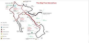 The Big 5 Marathon 2015 Course Map